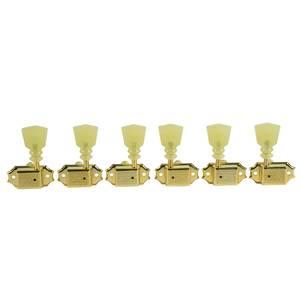 Bilde av Kluson Vintage Tuner - 3 + 3 gull - dobbel ring