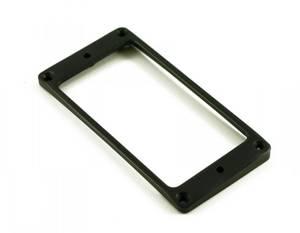Bilde av Humbucker monteringsring metall - lav - svart - kurvet